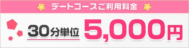 デートコースご利用料金(30分単位)5,000円