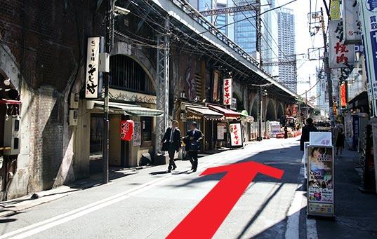 アロマピュアン新橋への道順3
