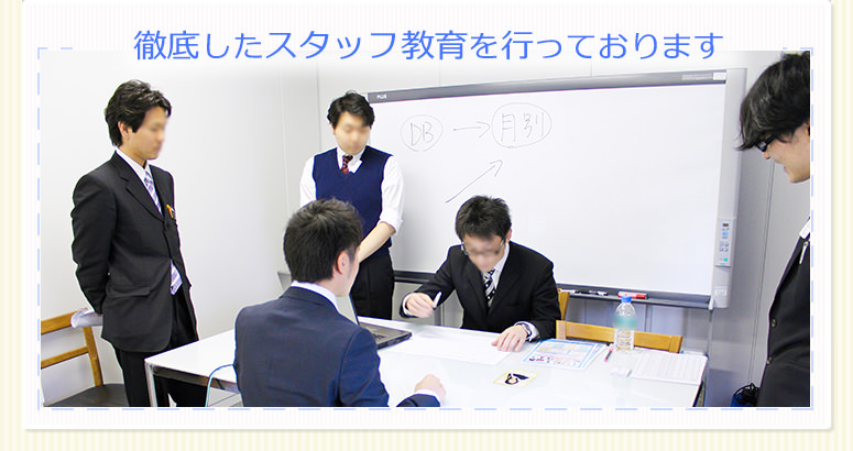 スタッフ教育現場のイメージ画像