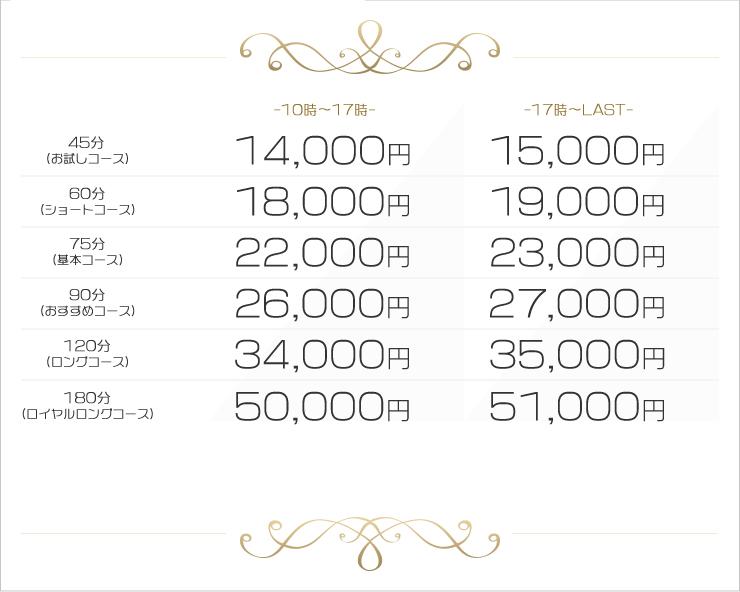 ホテヘルプラン料金表