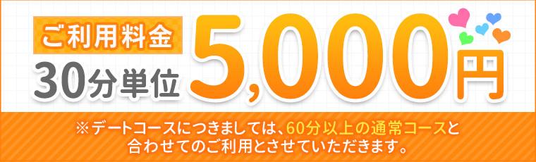 ご利用料金30分単位5,000円
