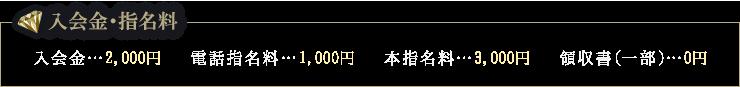 入会金・指名料