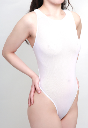 シースルー競泳・白