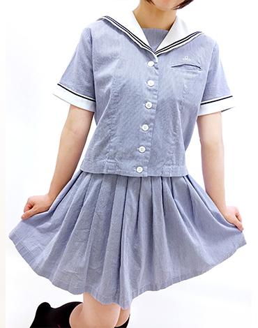 山○女子高等学校旧夏服