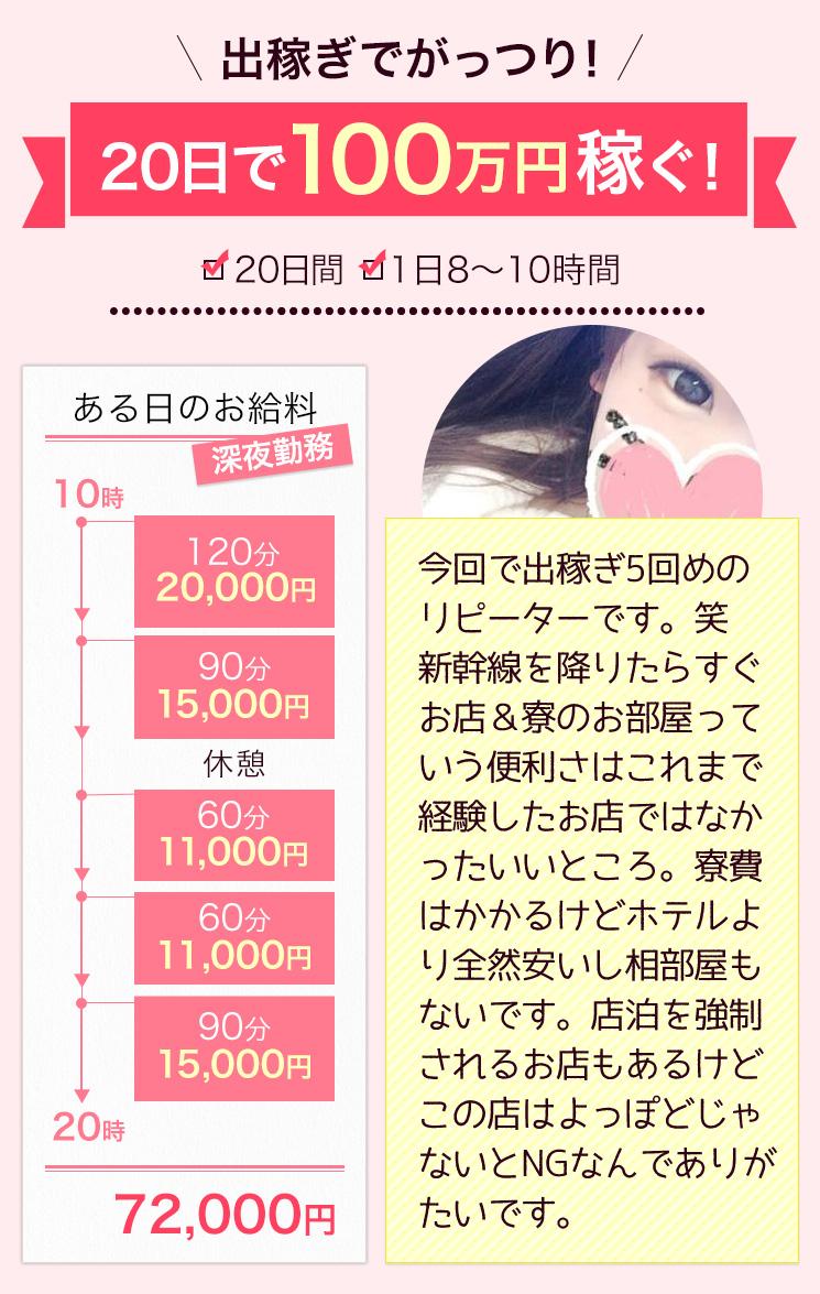 出稼ぎでがっつり!20日で100万円稼ぐ!